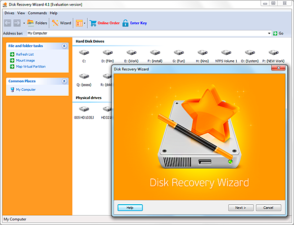 Disk Recovery Wizard,hard disk recovery,disk data recovery,data