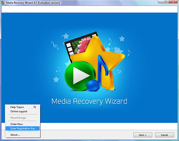 Media Recovery Wizard Screenshot